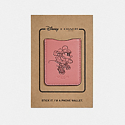 COACH F30799 Pocket Sticker With Rollerskate Minnie Mouse VINTAGE PINK