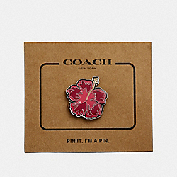 COACH F30913 Hibiscus Pin MULTICOLOR