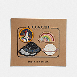 COACH F30915 Space Sticker Set MULTICOLOR