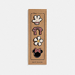 COACH F30927 Minnie Mouse Pin Set MULTICOLOR