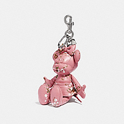 MINNIE MOUSE DOLL BAG CHARM - f30955 - vintage pink/Silver