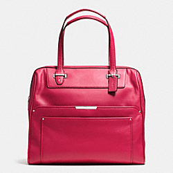 COACH F30965 Taylor Leather Bowler Satchel SILVER/BERRY
