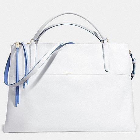 COACH THE XL BOROUGH BAG IN EDGEPAINT LEATHER -  GOLD/WHITE/BLUE OXFORD - f30981
