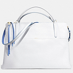 THE XL BOROUGH BAG IN EDGEPAINT LEATHER - f30981 -  GOLD/WHITE/BLUE OXFORD