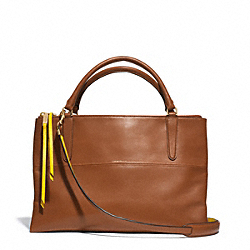 COACH F30982 The Edgepaint Leather Borough Bag GOLD/WALNUT/SUNGLOW