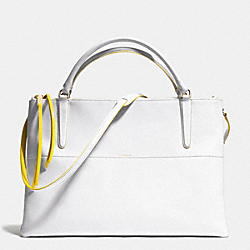 COACH F30985 The Large Borough Bag In Edgepaint Leather  GOLD/WHITE/SUNGLOW