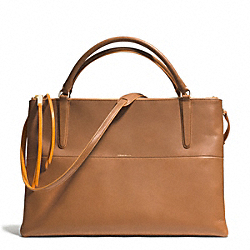 COACH F30985 The Edgepaint Leather Large Borough Bag GOLD/CAMEL/BRIGHT MANDARIN