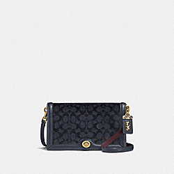 COACH F31070 Riley In Signature Canvas B4/CHARCOAL MIDNIGHT NAVY