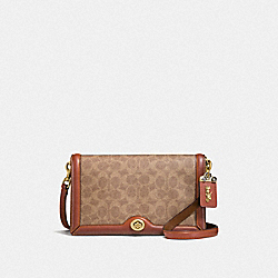 COACH F31070 - RILEY IN SIGNATURE CANVAS B4/RUST