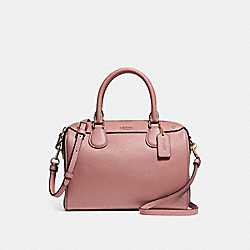 COACH F31084 Mini Bennett Satchel With Ditsy Floral Print Interior VINTAGE PINK/IMITATION GOLD