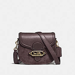 ELLE SADDLE BAG - F31113 - OXBLOOD 1/OLD BRASS