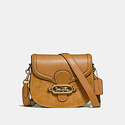 ELLE SADDLE BAG - F31113 - LIGHT SADDLE/OLD BRASS