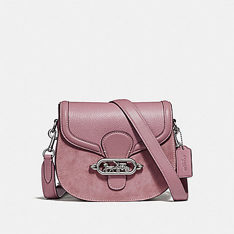 COACH F31113 ELLE SADDLE BAG DUSTY-ROSE/SILVER