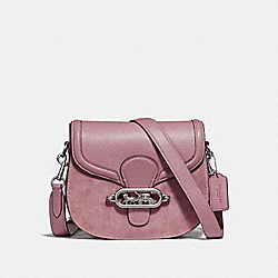 ELLE SADDLE BAG - f31113 - SILVER/DUSTY ROSE