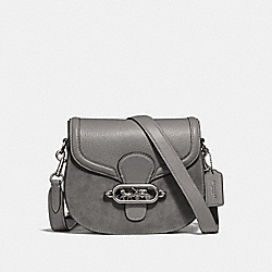COACH F31113 - ELLE SADDLE BAG HEATHER GREY/SILVER