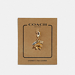 COACH F31135 Wildflower Charm GOLD