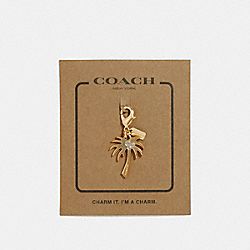 COACH F31138 Palm Tree Charm GOLD