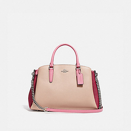 SAGE CARRYALL IN COLORBLOCK - COACH F31170 - SILVER/PINK MULTI