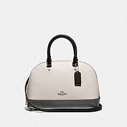 COACH F31186 Mini Sierra Satchel In Metallic Colorblock CHALK MULTI/SILVER