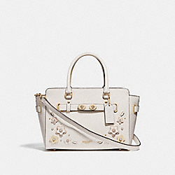 BLAKE CARRYALL 25 WITH FLORAL APPLIQUE - f31195 - CHALK MULTI/IMITATION GOLD