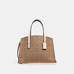 COACH F31210 - CHARLIE CARRYALL IN SIGNATURE CANVAS B4/CHALK