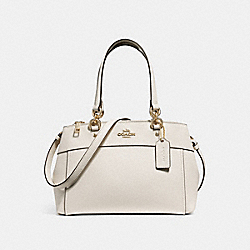 MINI BROOKE CARRYALL - f31251 - CHALK/IMITATION GOLD