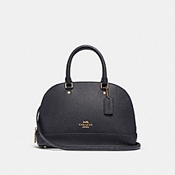COACH F31253 Mini Sierra Satchel MIDNIGHT/LIGHT GOLD