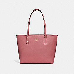 CITY ZIP TOTE - f31254 - PEONY/light gold