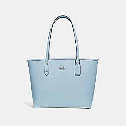 COACH F31254 City Zip Tote SILVER/PALE BLUE