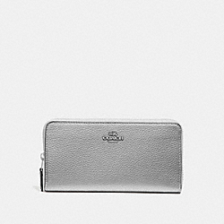 COACH F31263 Accordion Zip Wallet SILVER METALLIC/SILVER