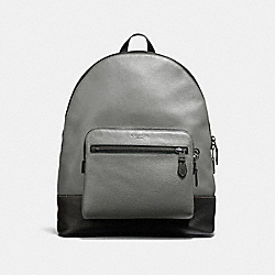 COACH F31274 - WEST BACKPACK HEATHER GREY/BLACK ANTIQUE NICKEL