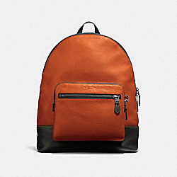 WEST BACKPACK - F31274 - RUSSET/BLACK ANTIQUE NICKEL