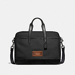 COACH F31277 Hamilton Bag In Cordura ANTIQUE NICKEL/BLACK