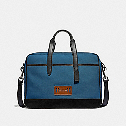 COACH F31277 Hamilton Bag In Cordura DENIM/BLACK ANTIQUE NICKEL