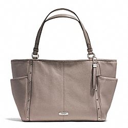 COACH F31286 - PARK STUDDED CARRIE TOTE SILVER/PUTTY