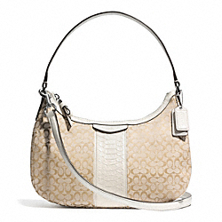 COACH F31310 - SIGNATURE STRIPE DEMI CROSSBODY ONE-COLOR