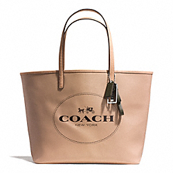 COACH F31315 Metro Horse And Carriage Tote SILVER/LIGHT KHAKI