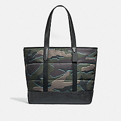 COACH F31318 West Tote With Camo Print GREEN MULTI/BLACK ANTIQUE NICKEL