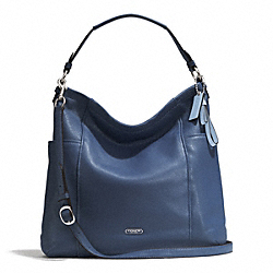 PARK LEATHER HOBO - f31323 - SILVER/DENIM