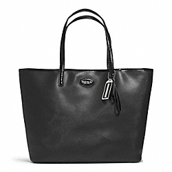 COACH F31326 - METRO LEATHER TOTE SILVER/BLACK