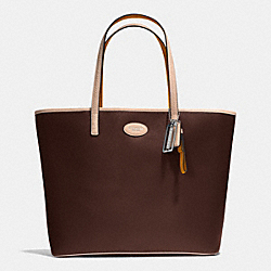 COACH METRO LEATHER TOTE - SILVER/MAHOGANY - F31326