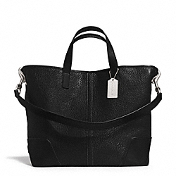 HADLEY LUXE GRAIN LEATHER DUFFLE - f31334 - SILVER/BLACK