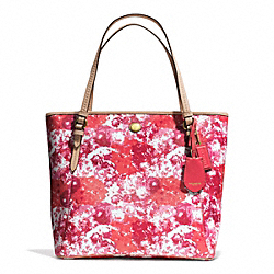 COACH F31342 - PEYTON FLORAL PRINT ZIP TOP TOTE ONE-COLOR