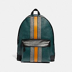 COACH F31348 Charles Backpack With Baseball Stitch FOREST GREEN MULTI/BLACK ANTIQUE NICKEL