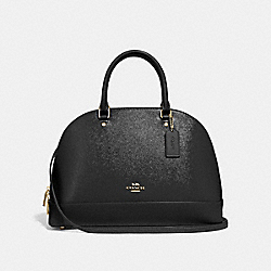 SIERRA SATCHEL - f31352 - BLACK/light gold