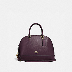 SIERRA SATCHEL - f31352 - oxblood 1/light gold