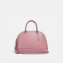 SIERRA SATCHEL - f31352 - SILVER/DUSTY ROSE