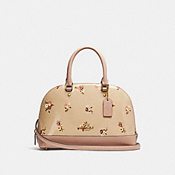 MINI SIERRA SATCHEL WITH BABY BOUQUET PRINT - f31354 - BEECHWOOD MULTI/light gold