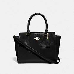 LEAH SATCHEL - f31357 - BLACK/light gold
