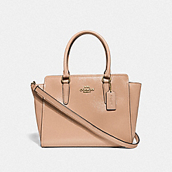 LEAH SATCHEL - f31357 - BEECHWOOD/light gold